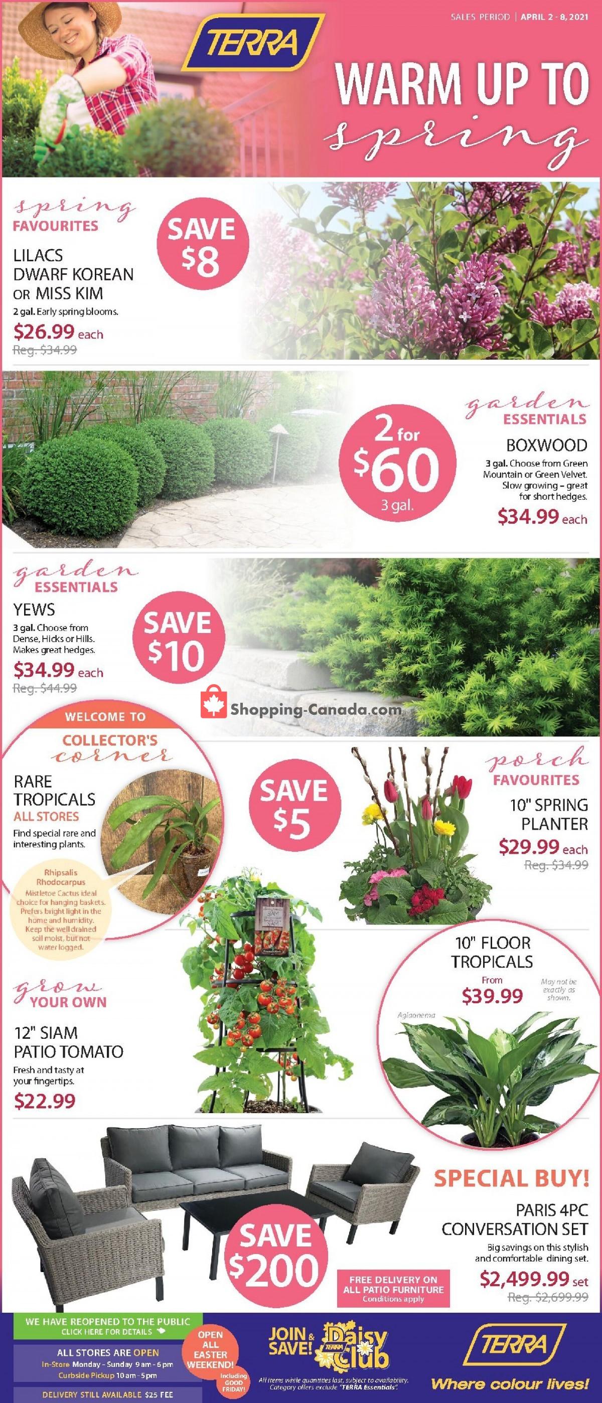 Flyer Terra Green Houses Canada - from Friday April 2, 2021 to Thursday April 8, 2021