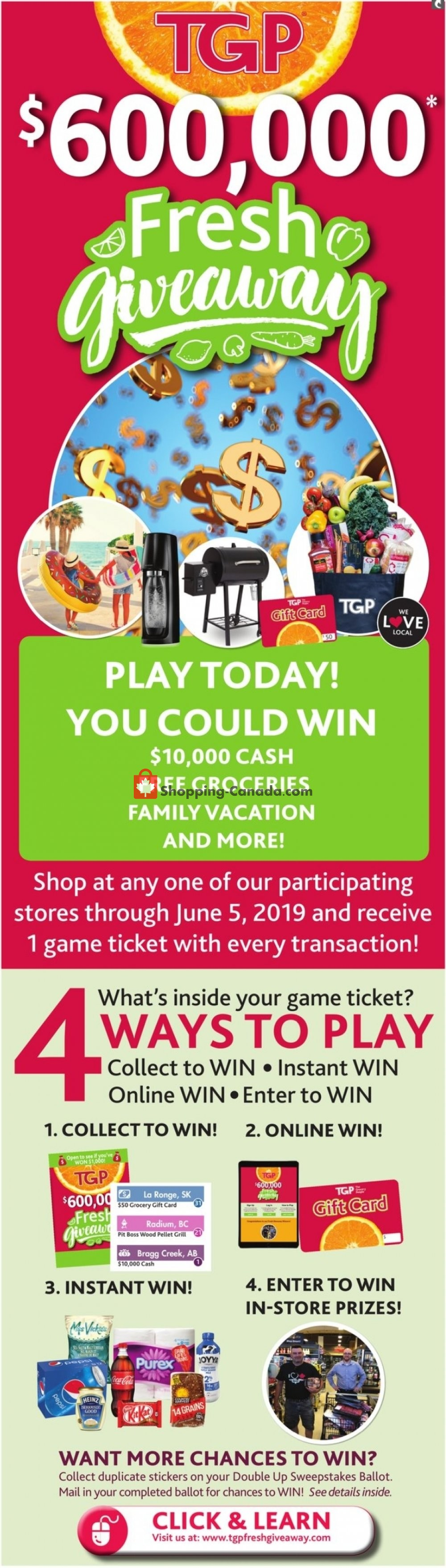 Flyer TGP Canada - from Thursday May 2, 2019 to Wednesday May 8, 2019