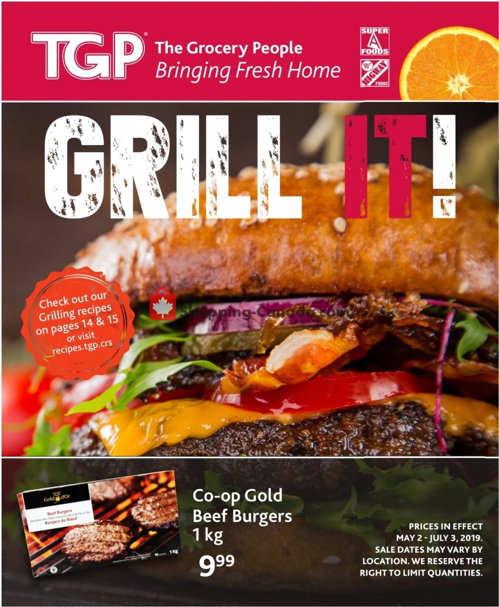 Flyer TGP Canada - from Thursday May 2, 2019 to Wednesday July 3, 2019