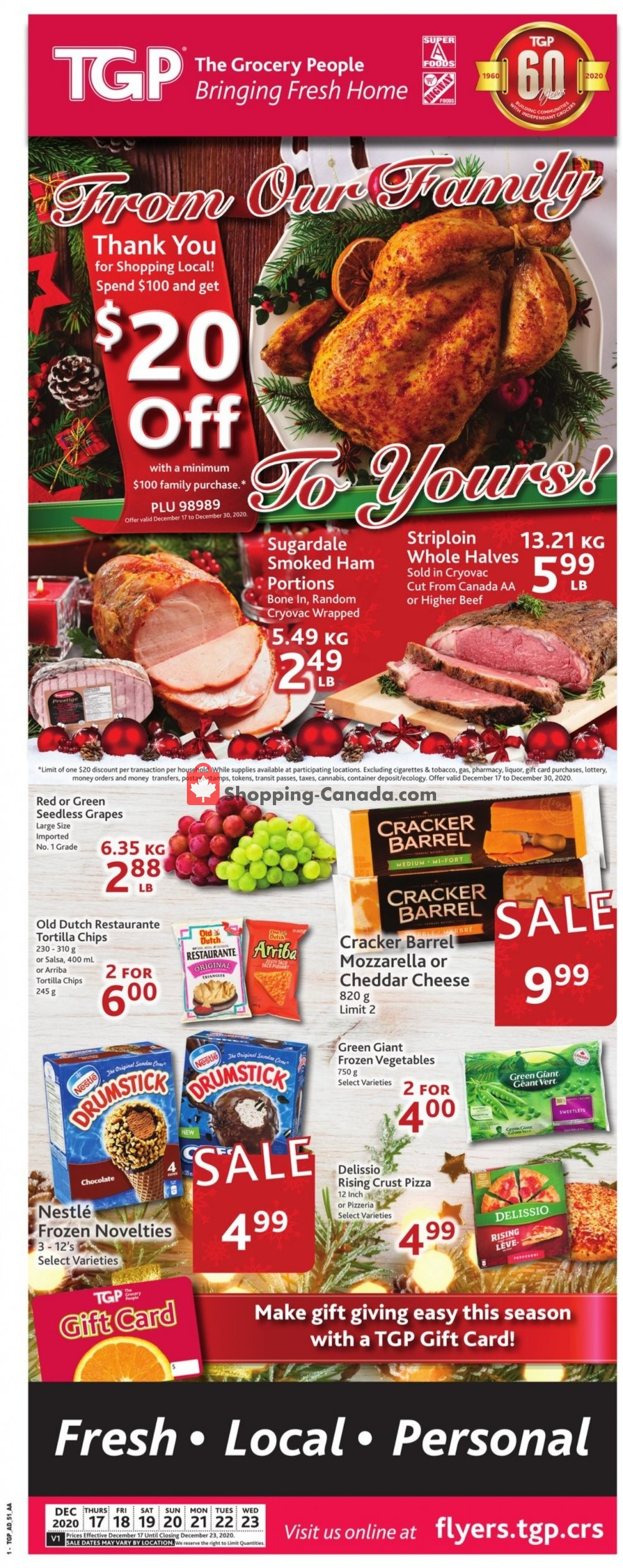Flyer TGP Canada - from Thursday December 17, 2020 to Wednesday December 23, 2020