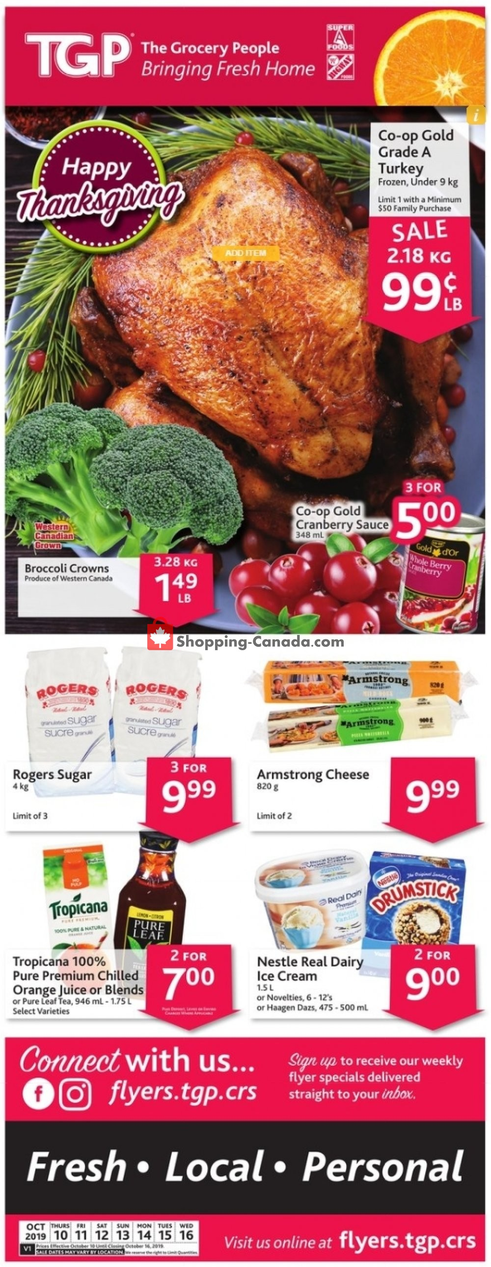 Flyer TGP Canada - from Thursday October 10, 2019 to Wednesday October 16, 2019
