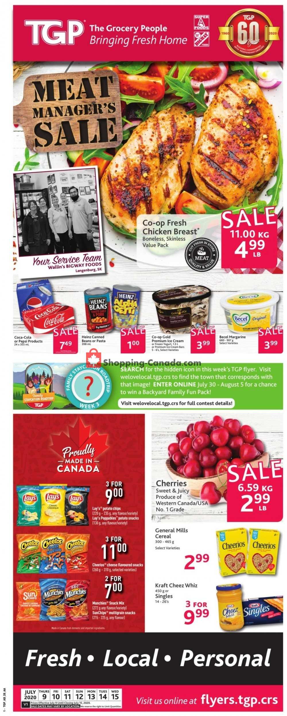Flyer TGP Canada - from Thursday July 9, 2020 to Wednesday July 15, 2020