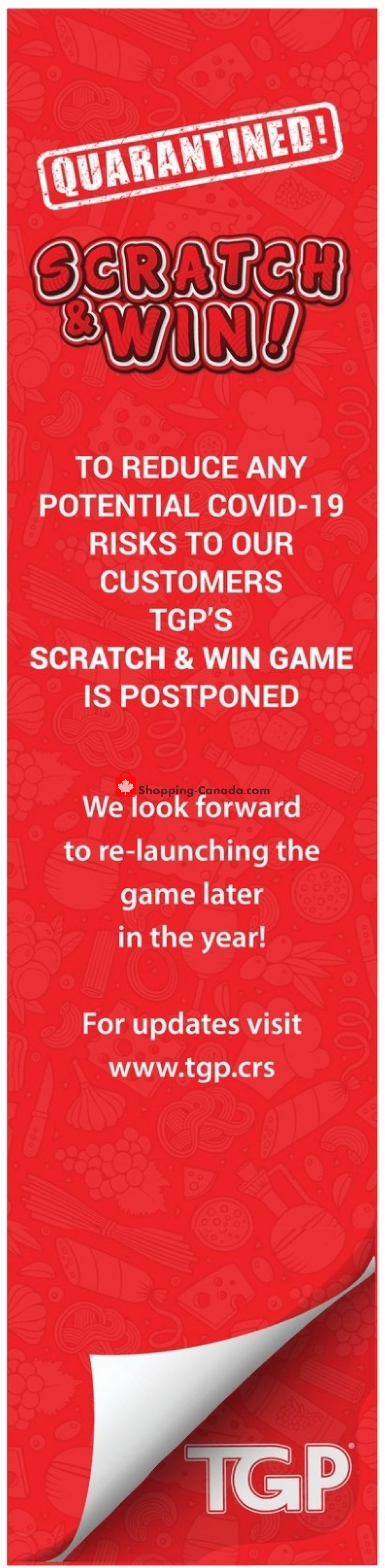 Flyer TGP Canada - from Thursday April 23, 2020 to Wednesday April 29, 2020
