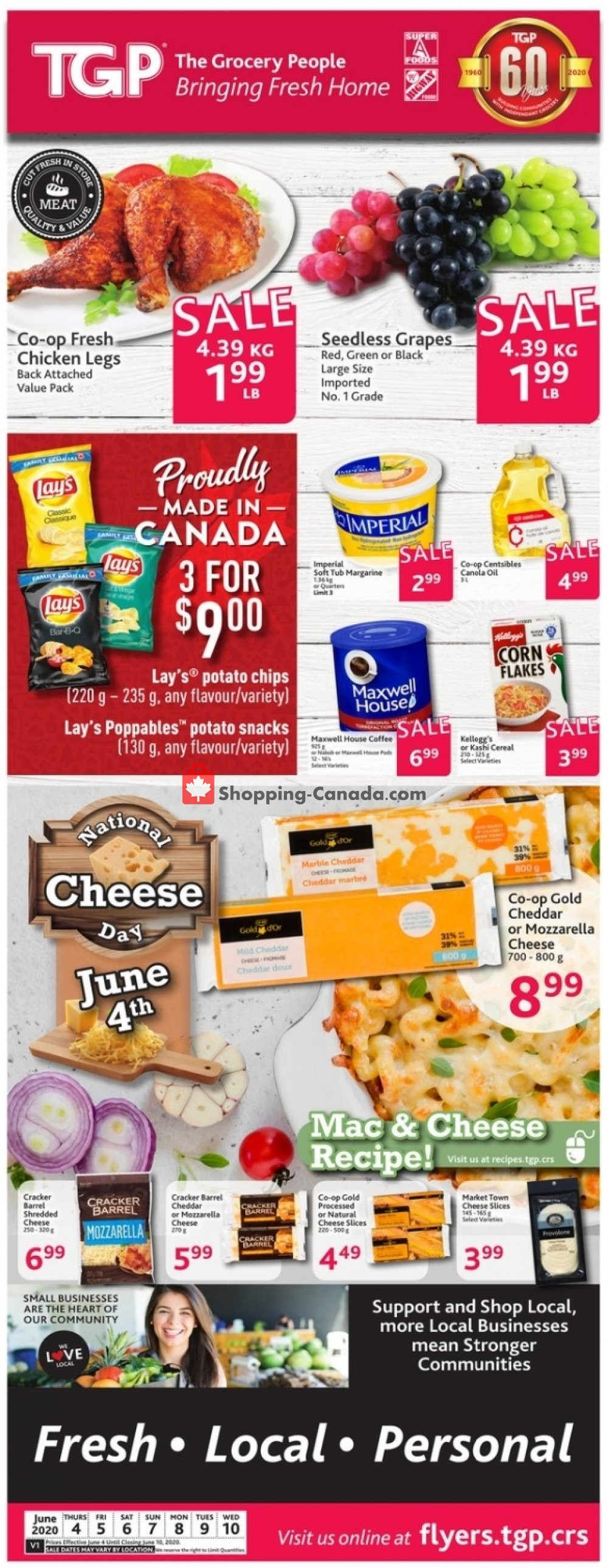 Flyer TGP Canada - from Thursday June 4, 2020 to Wednesday June 10, 2020