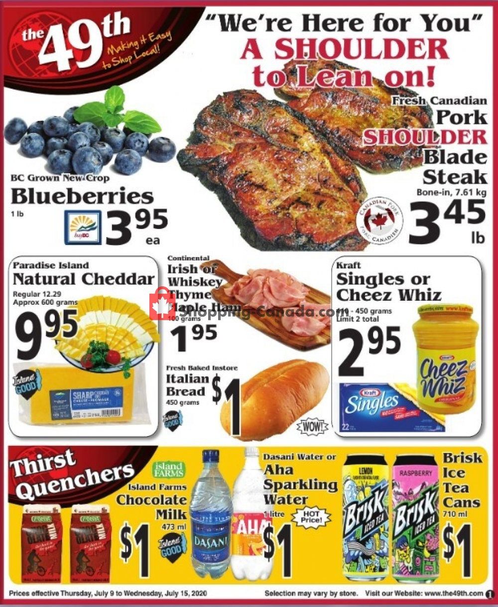 Flyer The 49th Parallel Grocery Canada - from Thursday July 9, 2020 to Wednesday July 15, 2020