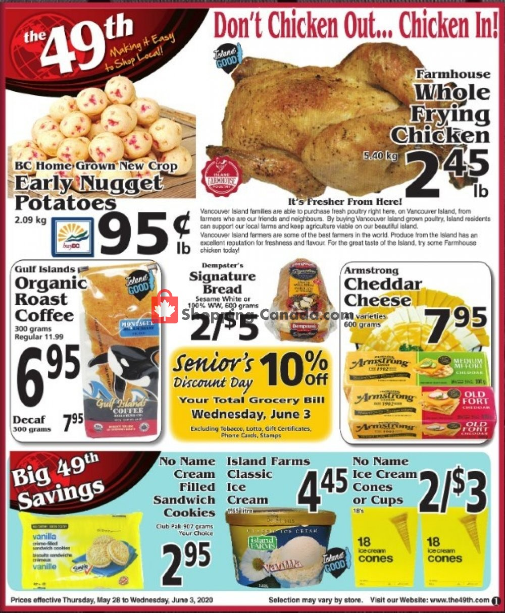 Flyer The 49th Parallel Grocery Canada - from Thursday May 28, 2020 to Wednesday June 3, 2020