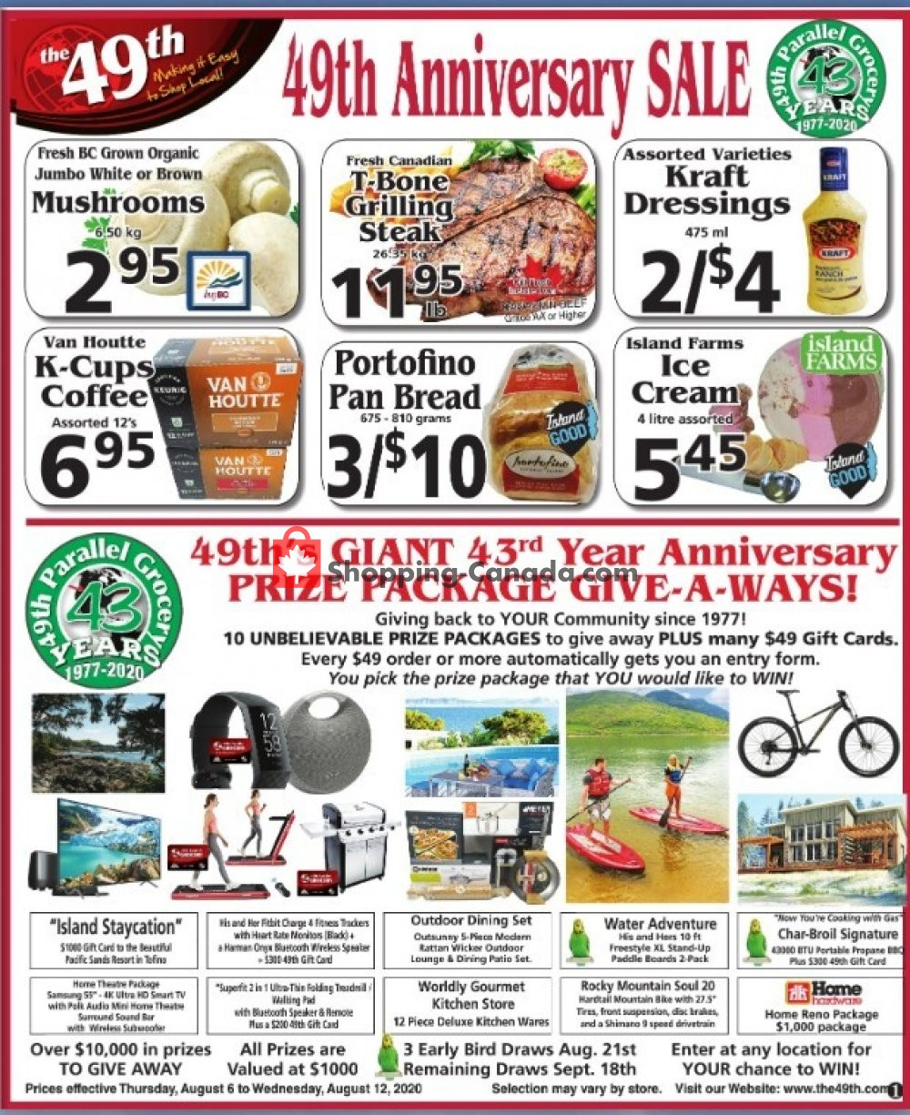 Flyer The 49th Parallel Grocery Canada - from Thursday August 6, 2020 to Wednesday August 12, 2020