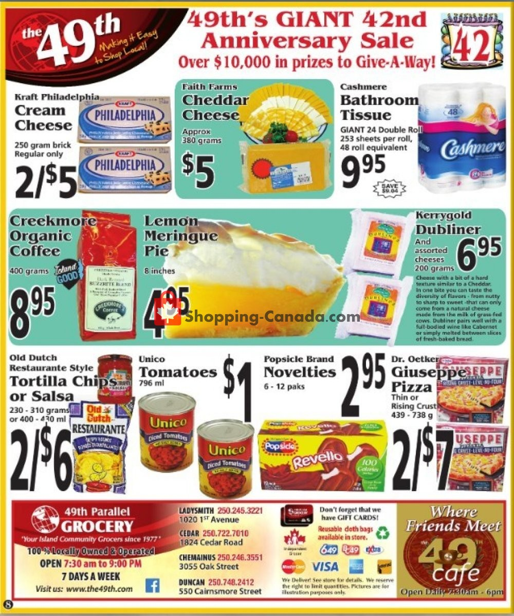Flyer The 49th Parallel Grocery Canada - from Thursday August 8, 2019 to Wednesday August 14, 2019