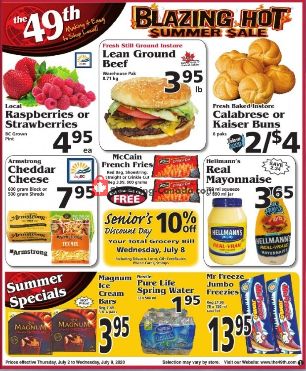 Flyer The 49th Parallel Grocery Canada - from Thursday July 2, 2020 to Wednesday July 8, 2020