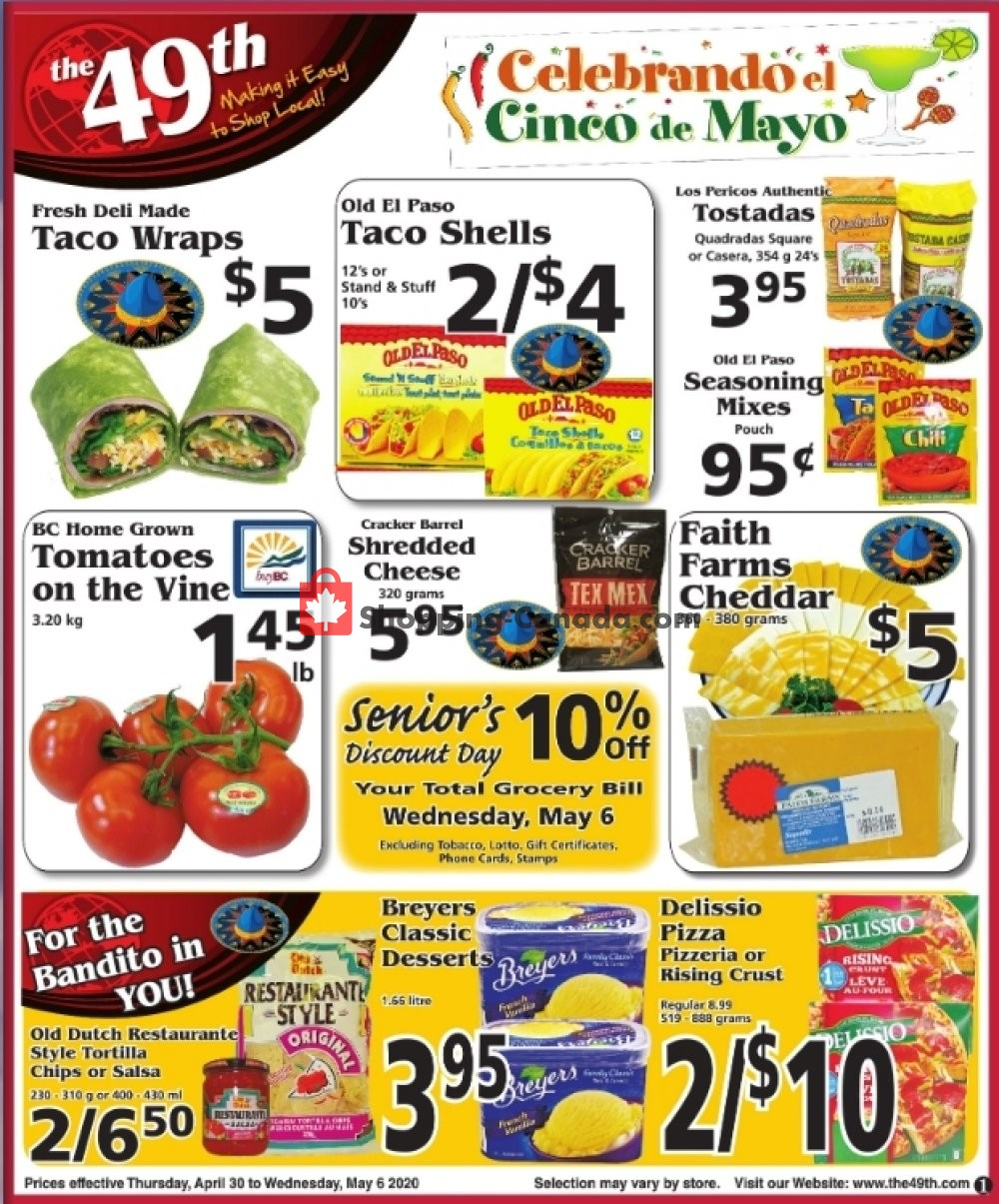 Flyer The 49th Parallel Grocery Canada - from Thursday April 30, 2020 to Wednesday May 6, 2020