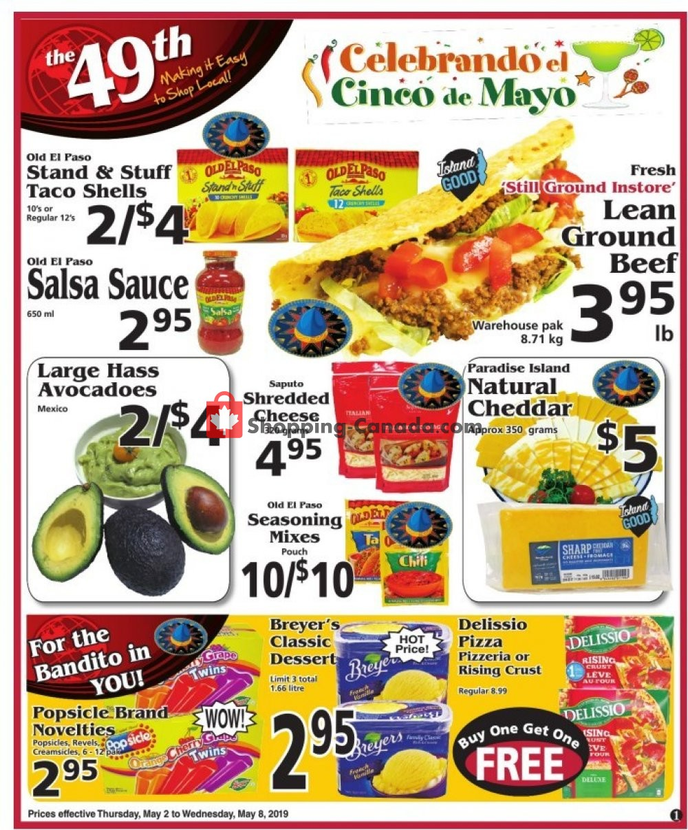 Flyer The 49th Parallel Grocery Canada - from Thursday May 2, 2019 to Wednesday May 8, 2019