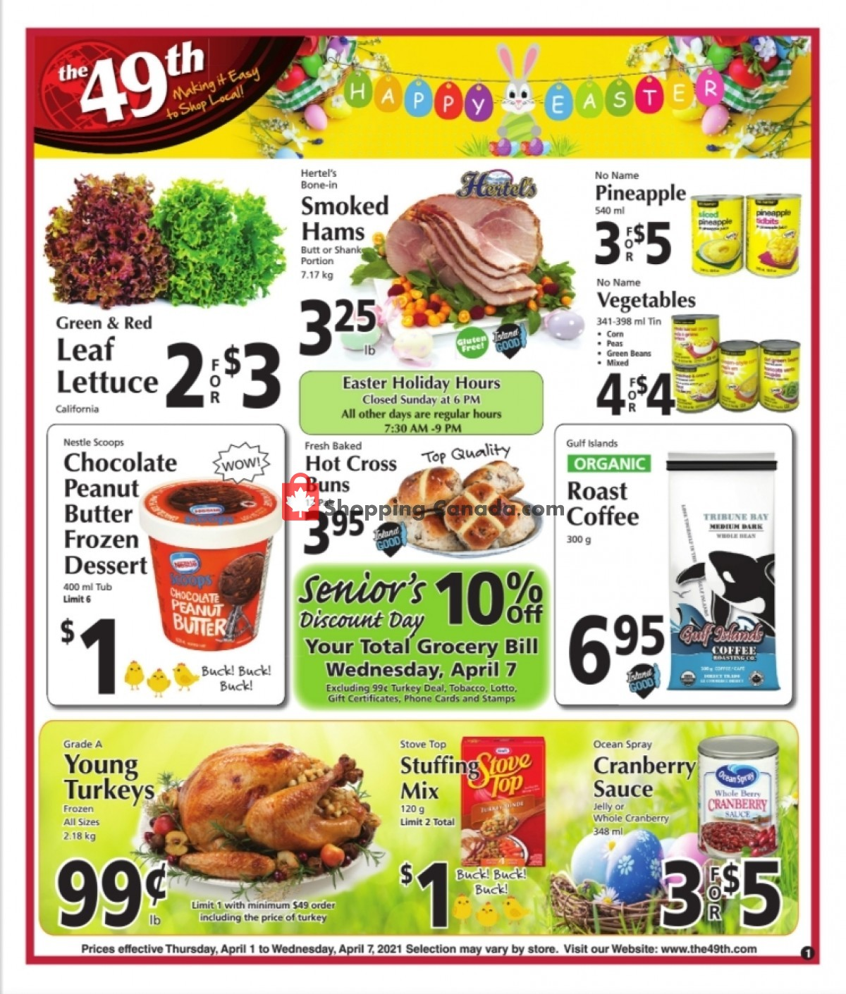 Flyer The 49th Parallel Grocery Canada - from Thursday April 1, 2021 to Wednesday April 7, 2021