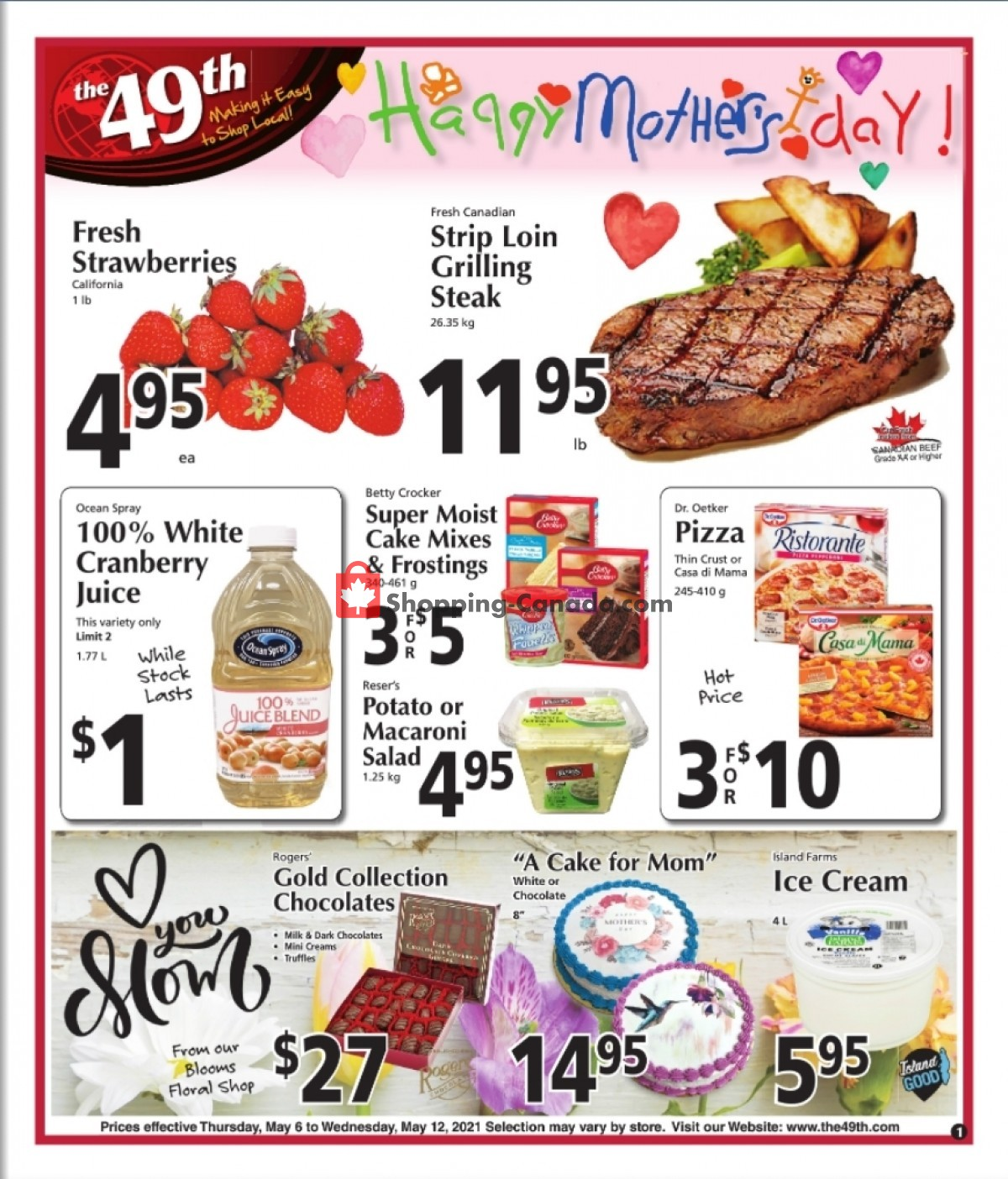 Flyer The 49th Parallel Grocery Canada - from Thursday May 6, 2021 to Wednesday May 12, 2021