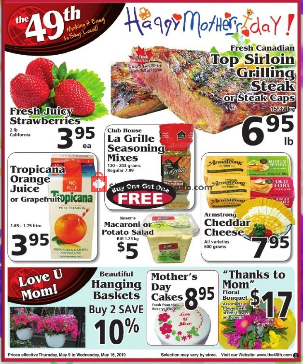 Flyer The 49th Parallel Grocery Canada - from Thursday May 9, 2019 to Wednesday May 15, 2019
