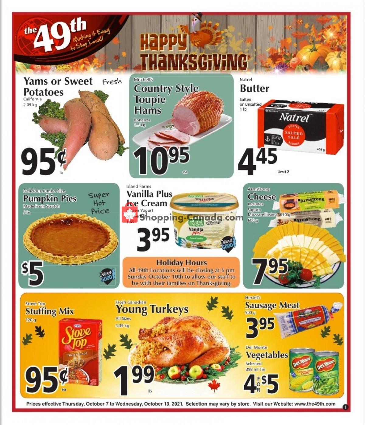 Flyer The 49th Parallel Grocery Canada - from Thursday October 7, 2021 to Wednesday October 13, 2021