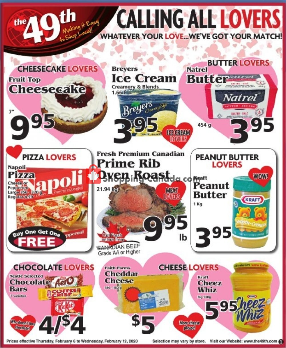 Flyer The 49th Parallel Grocery Canada - from Thursday February 6, 2020 to Wednesday February 12, 2020