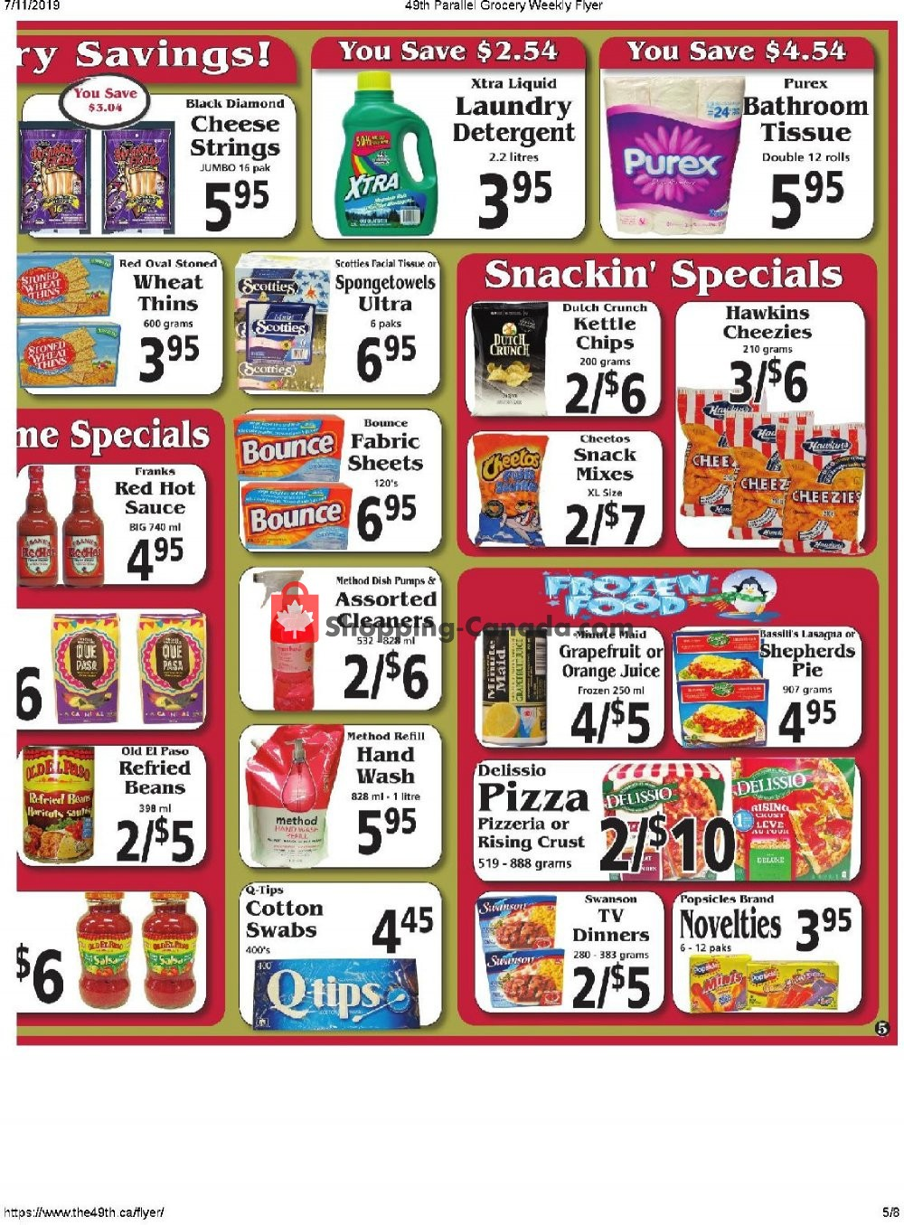 Flyer The 49th Parallel Grocery Canada - from Thursday July 11, 2019 to Wednesday July 17, 2019