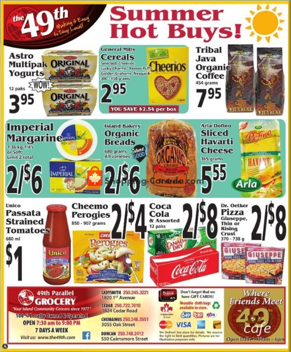 Flyer The 49th Parallel Grocery Canada - from Thursday July 18, 2019 to Wednesday July 24, 2019