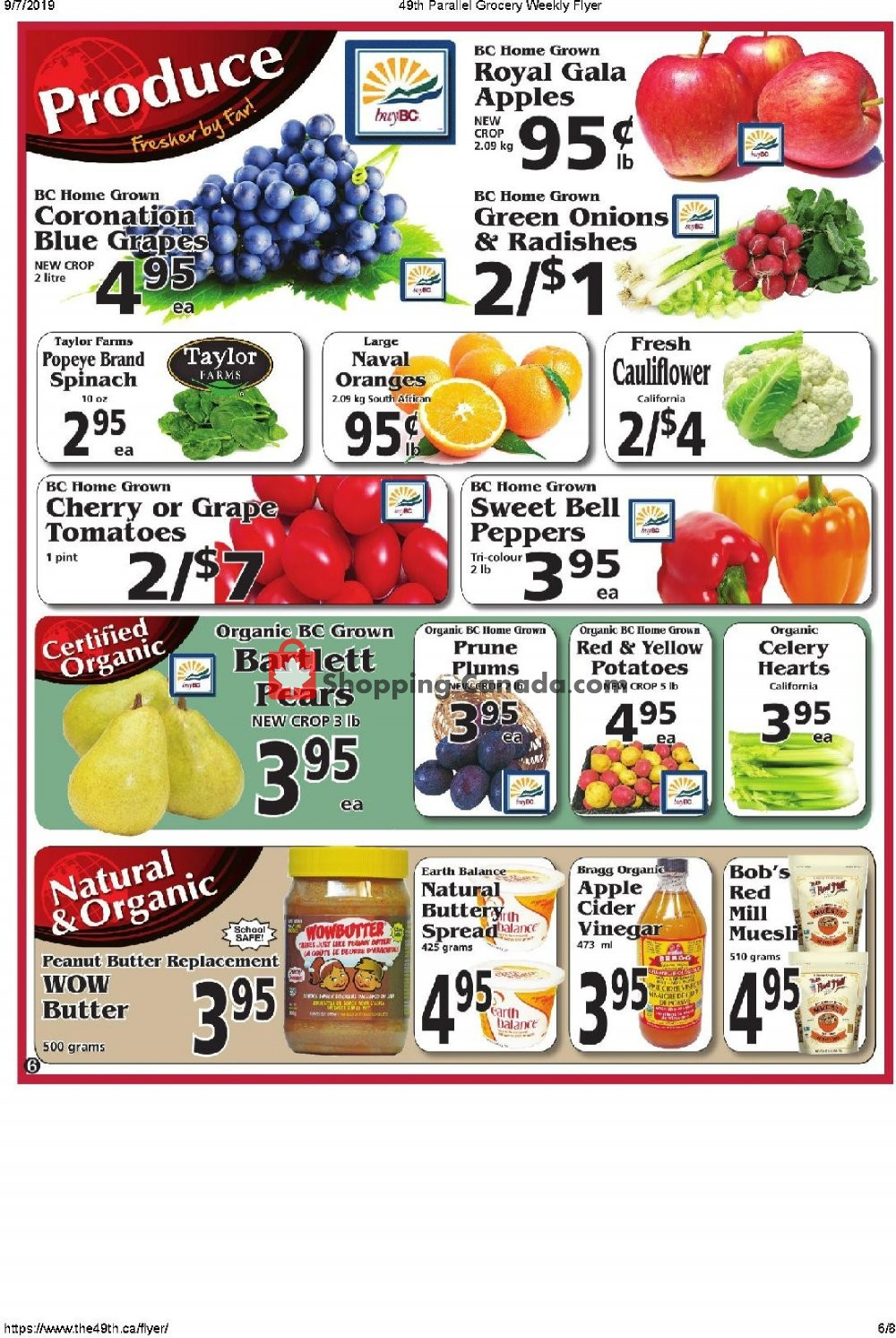 Flyer The 49th Parallel Grocery Canada - from Thursday September 5, 2019 to Wednesday September 11, 2019