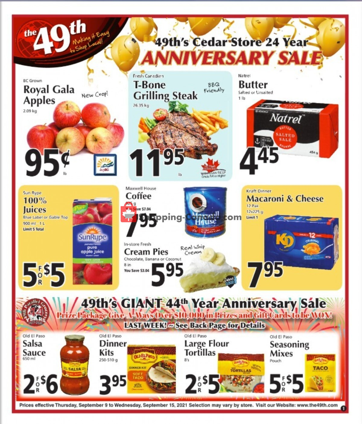 Flyer The 49th Parallel Grocery Canada - from Thursday September 9, 2021 to Wednesday September 15, 2021