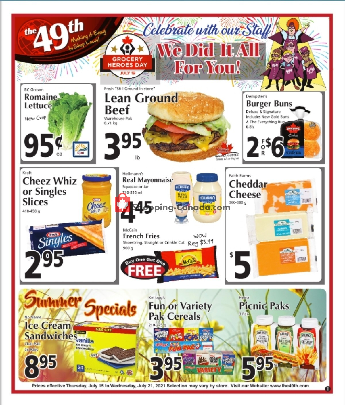 Flyer The 49th Parallel Grocery Canada - from Thursday July 15, 2021 to Wednesday July 21, 2021