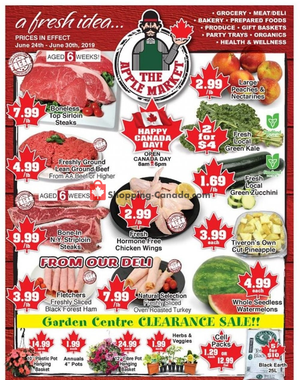 Flyer The Apple Market Canada - from Monday June 24, 2019 to Sunday June 30, 2019