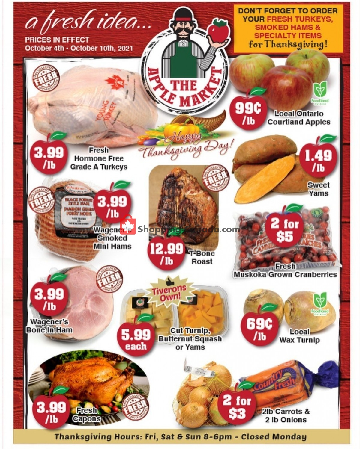 Flyer The Apple Market Canada - from Tuesday October 5, 2021 to Monday October 11, 2021