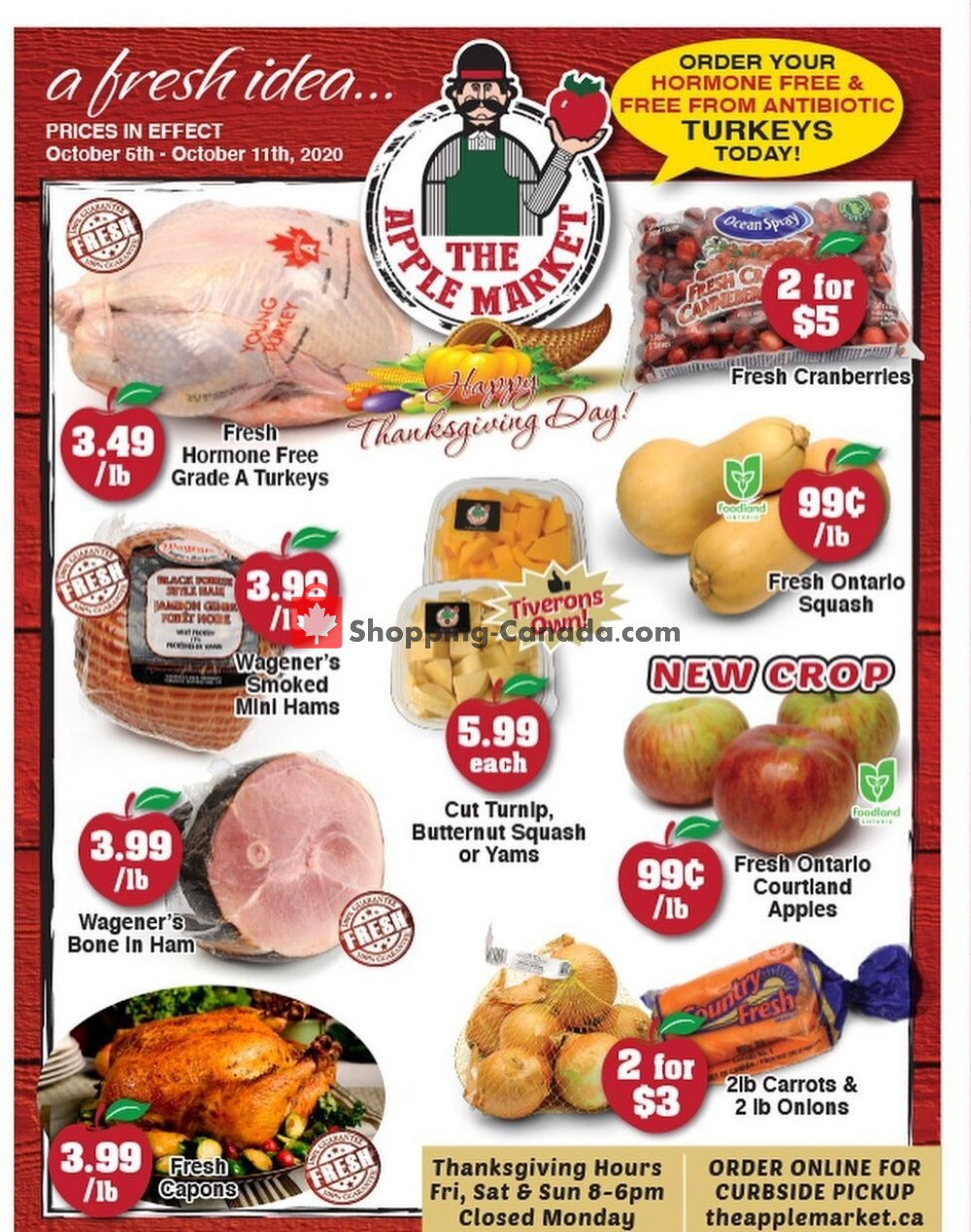 Flyer The Apple Market Canada - from Tuesday October 6, 2020 to Sunday October 11, 2020
