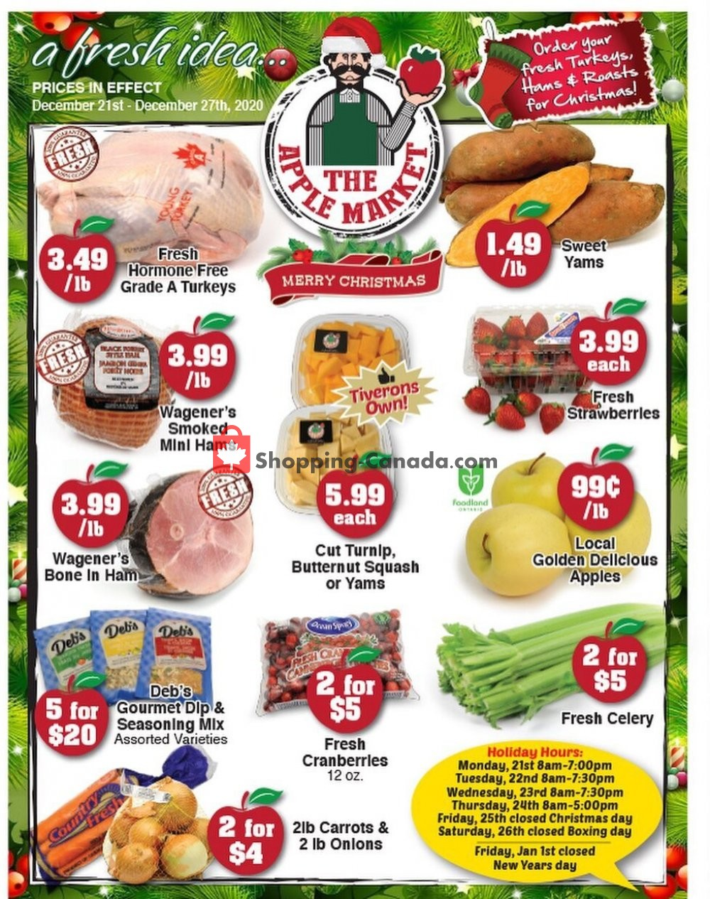 Flyer The Apple Market Canada - from Monday December 21, 2020 to Sunday December 27, 2020
