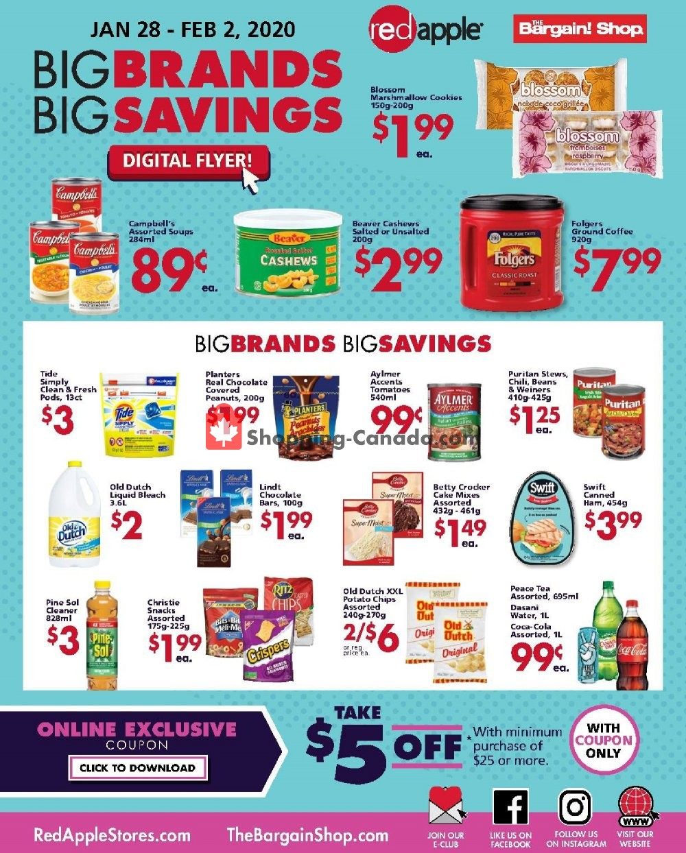 Flyer The Bargain! Shop Canada - from Tuesday January 28, 2020 to Sunday February 2, 2020