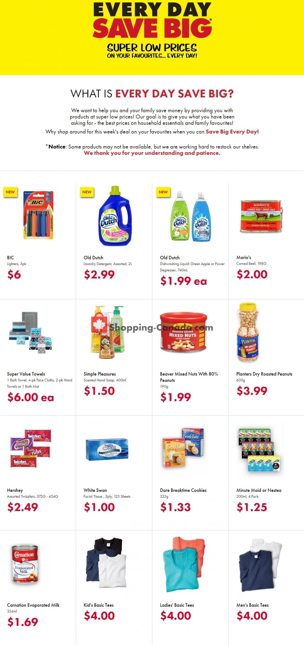 Flyer The Bargain! Shop Canada - from Sunday April 19, 2020 to Monday April 20, 2020