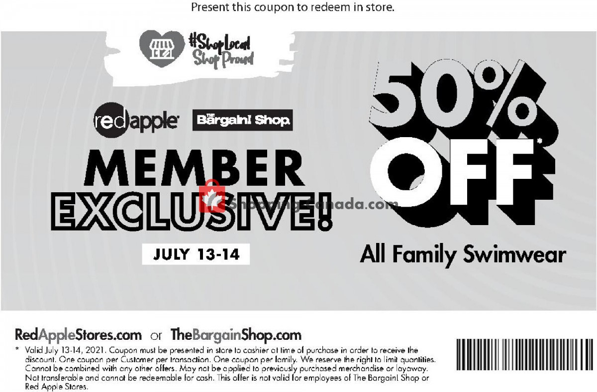 Flyer The Bargain! Shop Canada - from Tuesday July 13, 2021 to Wednesday July 14, 2021