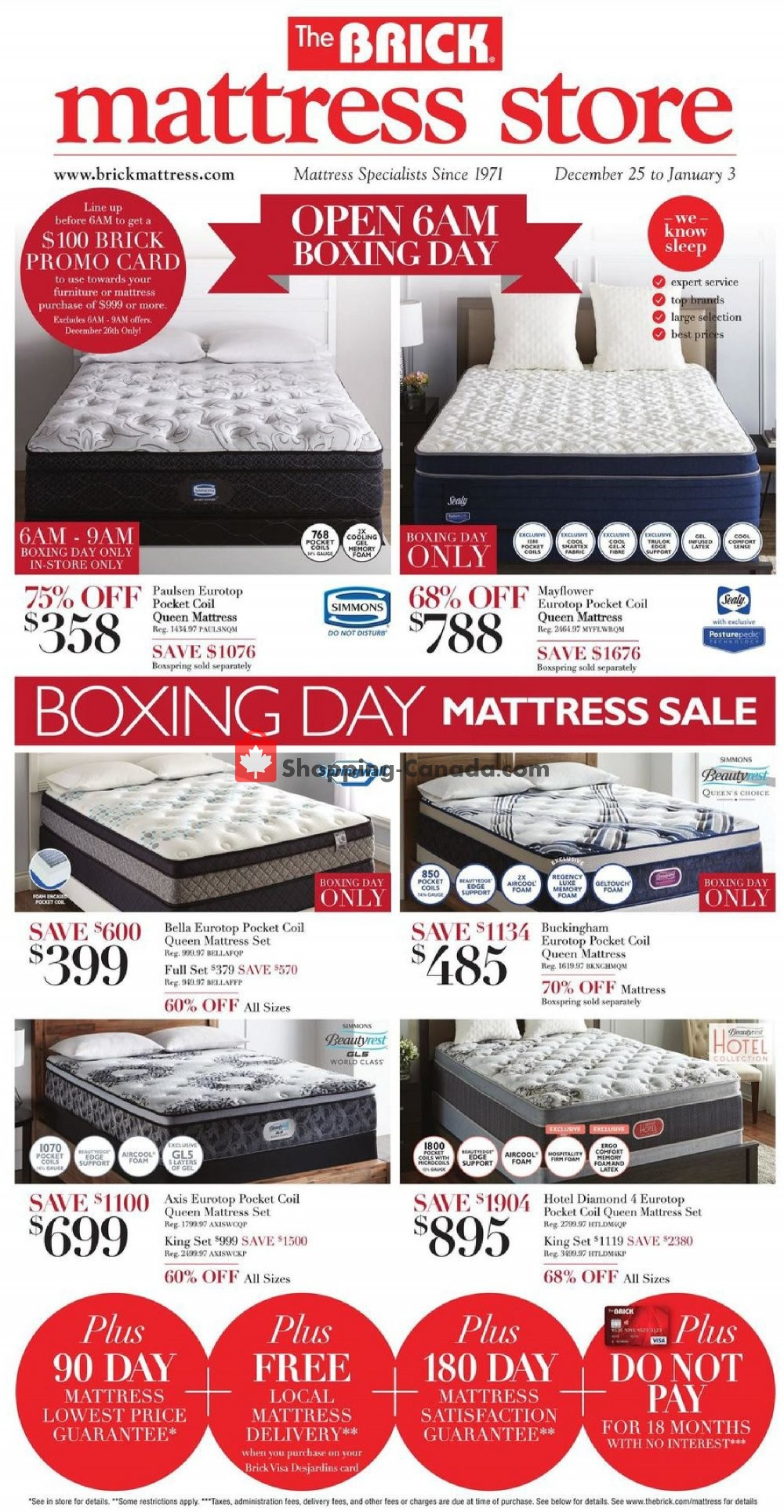 flyer and weekly ads the brick canada boxing day. Black Bedroom Furniture Sets. Home Design Ideas