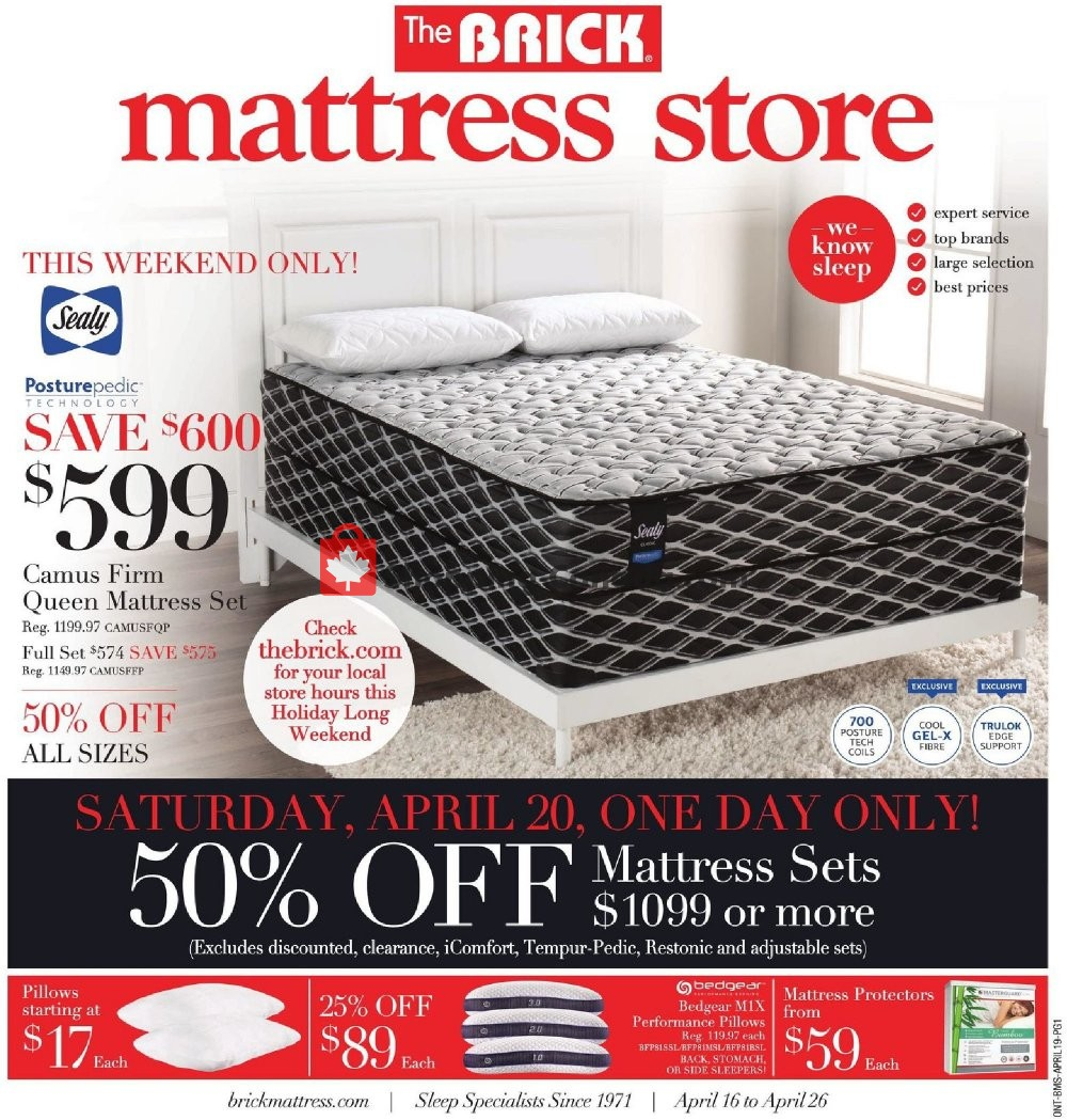 Flyer The Brick Canada - from Tuesday April 16, 2019 to Friday April 26, 2019