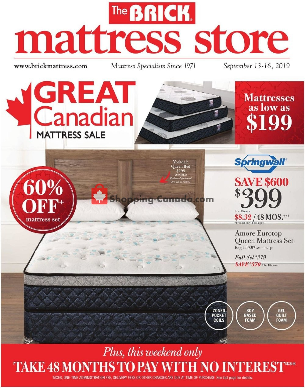 Flyer The Brick Canada - from Friday September 13, 2019 to Monday September 16, 2019