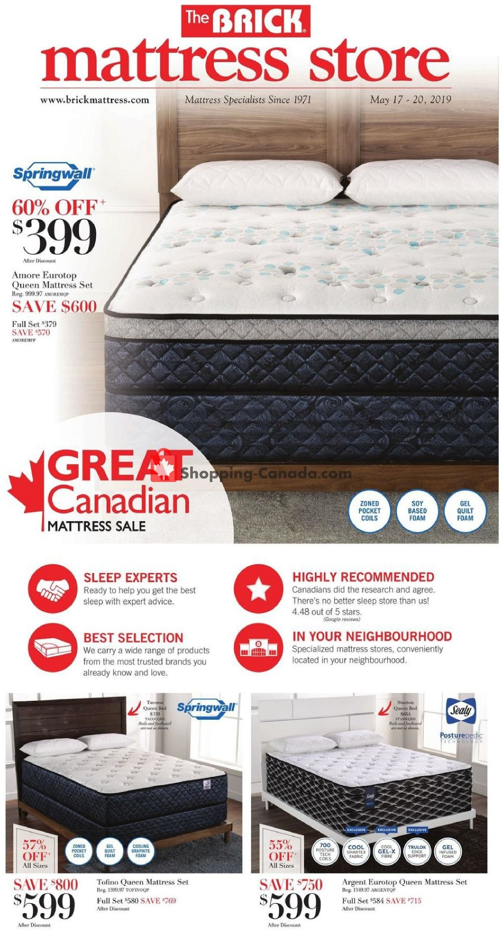 Flyer The Brick Canada - from Friday May 17, 2019 to Monday May 20, 2019