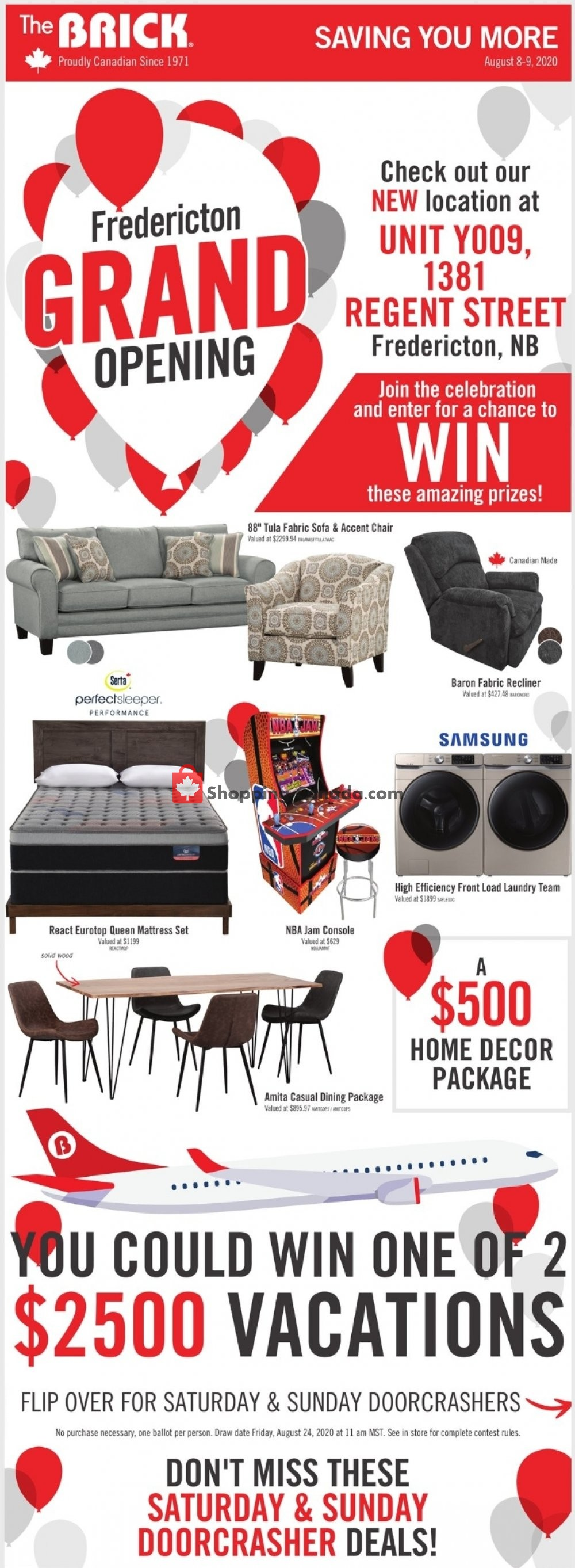 Flyer The Brick Canada - from Thursday August 6, 2020 to Tuesday August 11, 2020