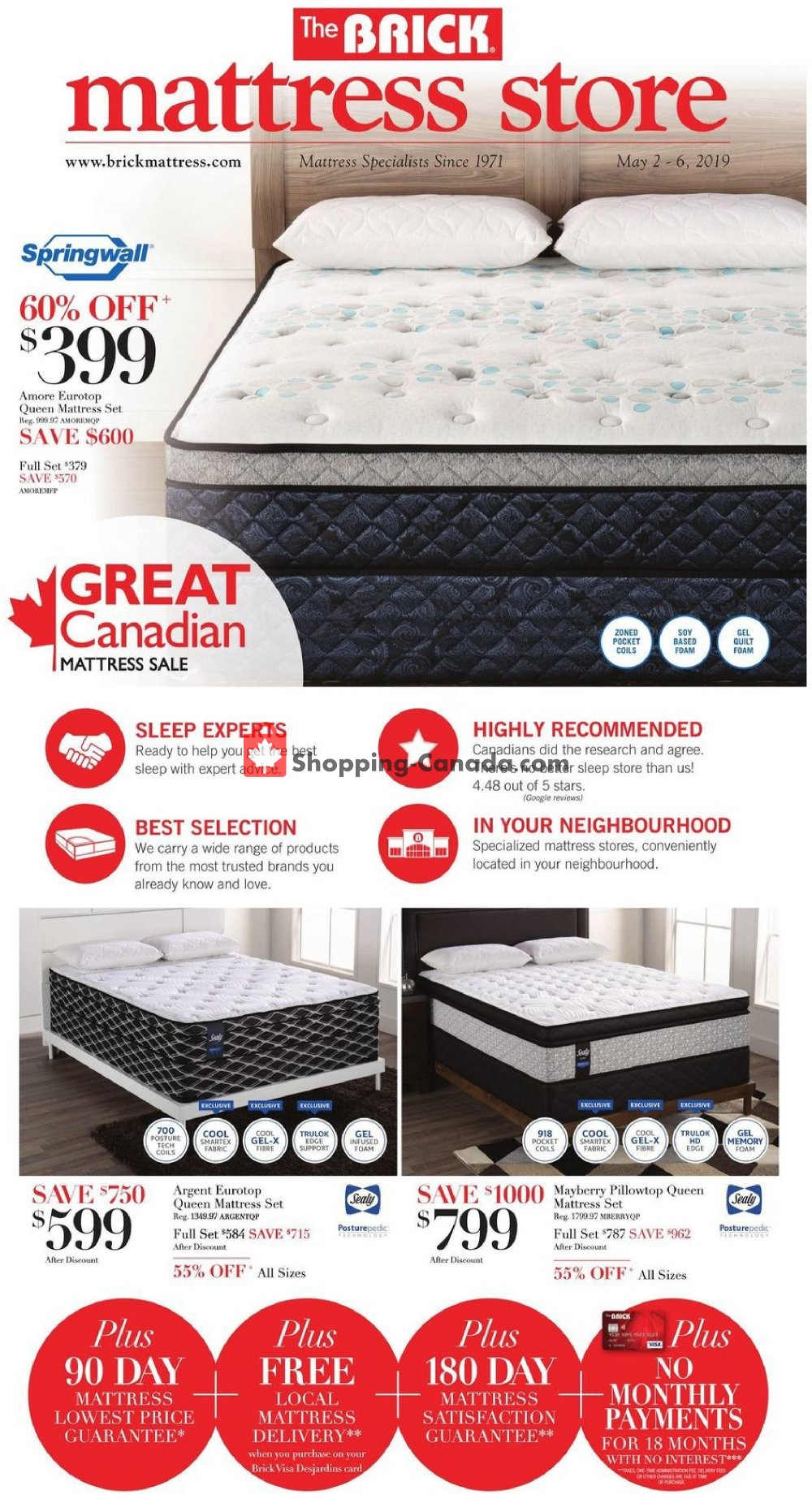 Flyer The Brick Canada - from Thursday May 2, 2019 to Monday May 6, 2019