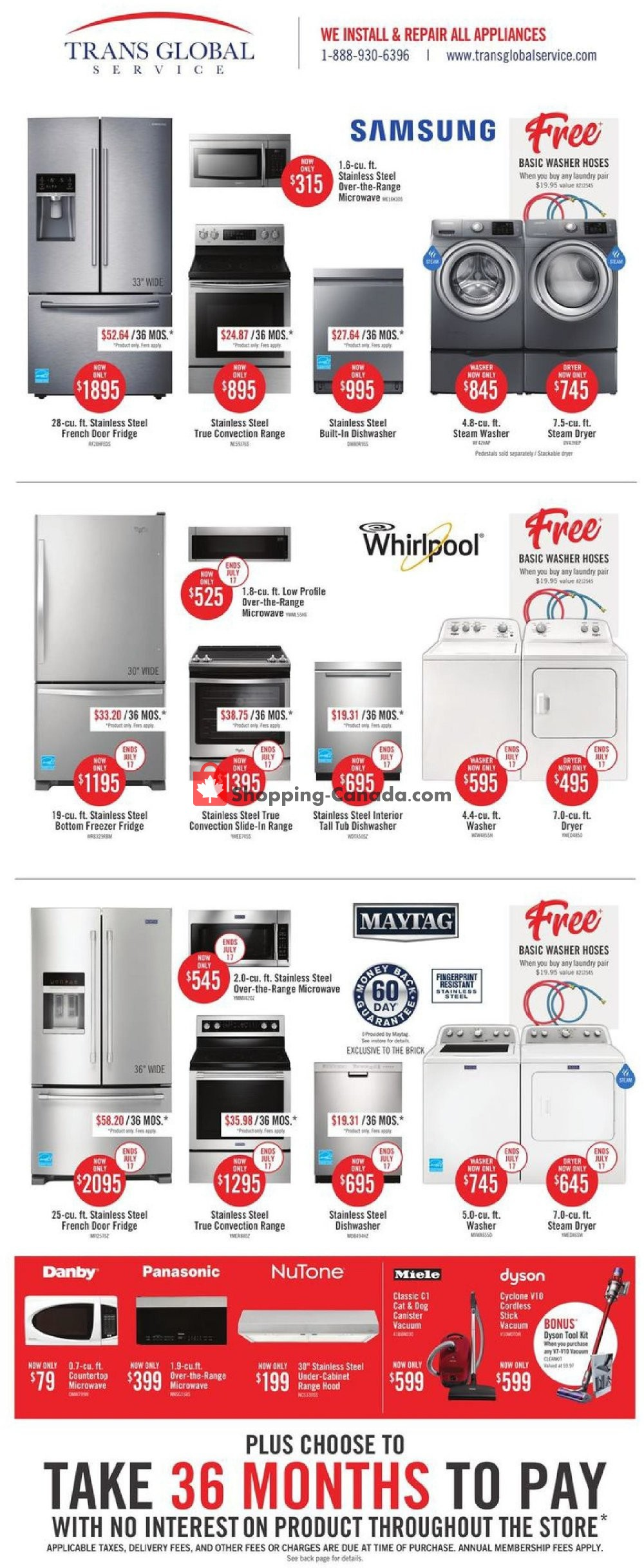 Flyer The Brick Canada - from Monday July 8, 2019 to Wednesday July 24, 2019