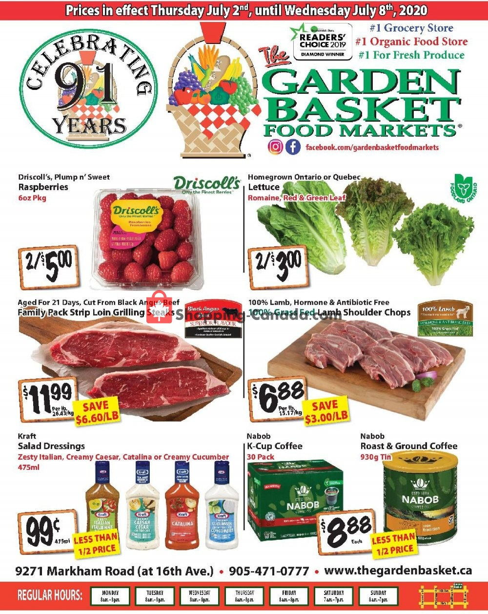 Flyer The Garden Basket Canada - from Thursday July 2, 2020 to Wednesday July 8, 2020