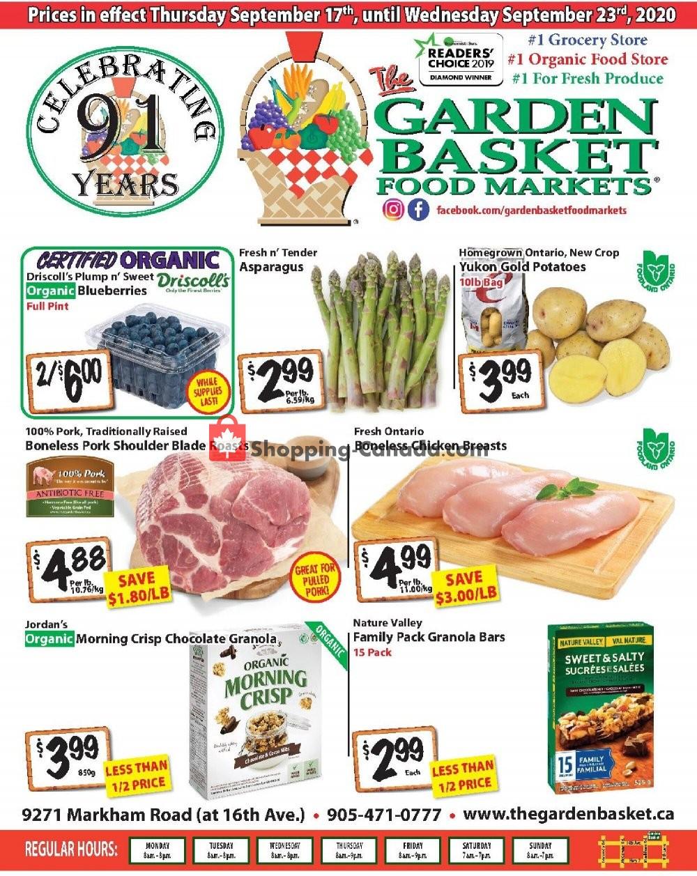 Flyer The Garden Basket Canada - from Thursday September 17, 2020 to Wednesday September 23, 2020