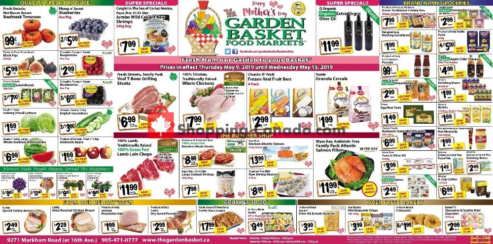 Flyer The Garden Basket Canada - from Thursday May 9, 2019 to Wednesday May 15, 2019
