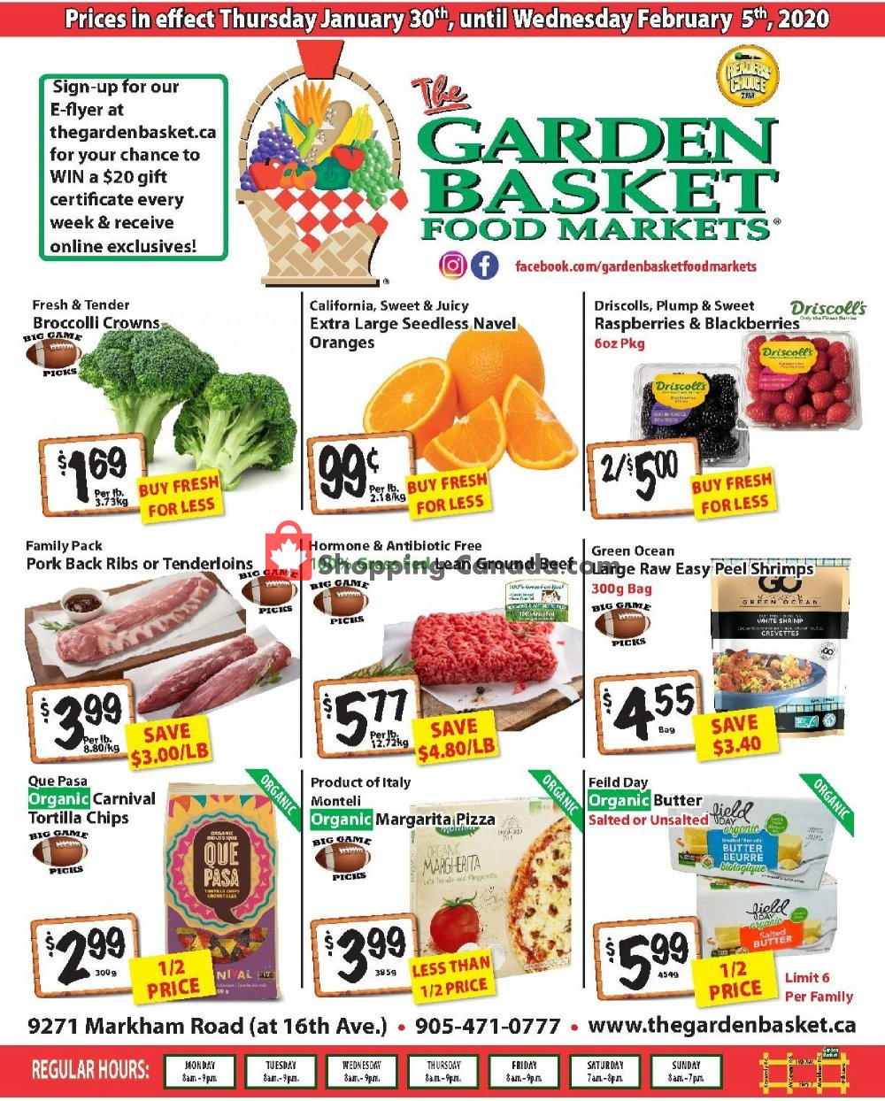 Flyer The Garden Basket Canada - from Thursday January 30, 2020 to Wednesday February 5, 2020