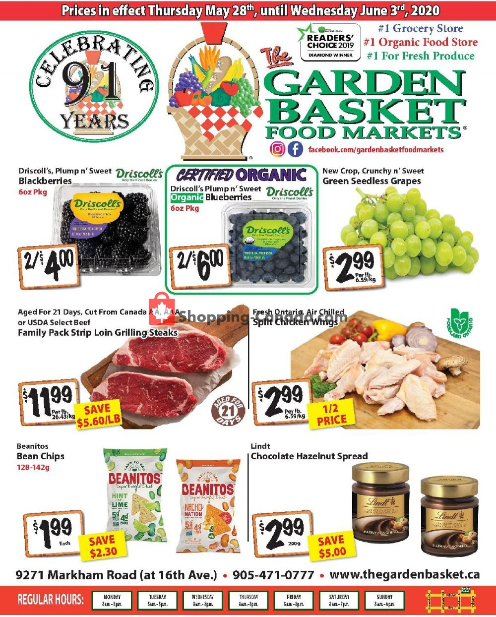 Flyer The Garden Basket Canada - from Thursday May 28, 2020 to Wednesday June 3, 2020