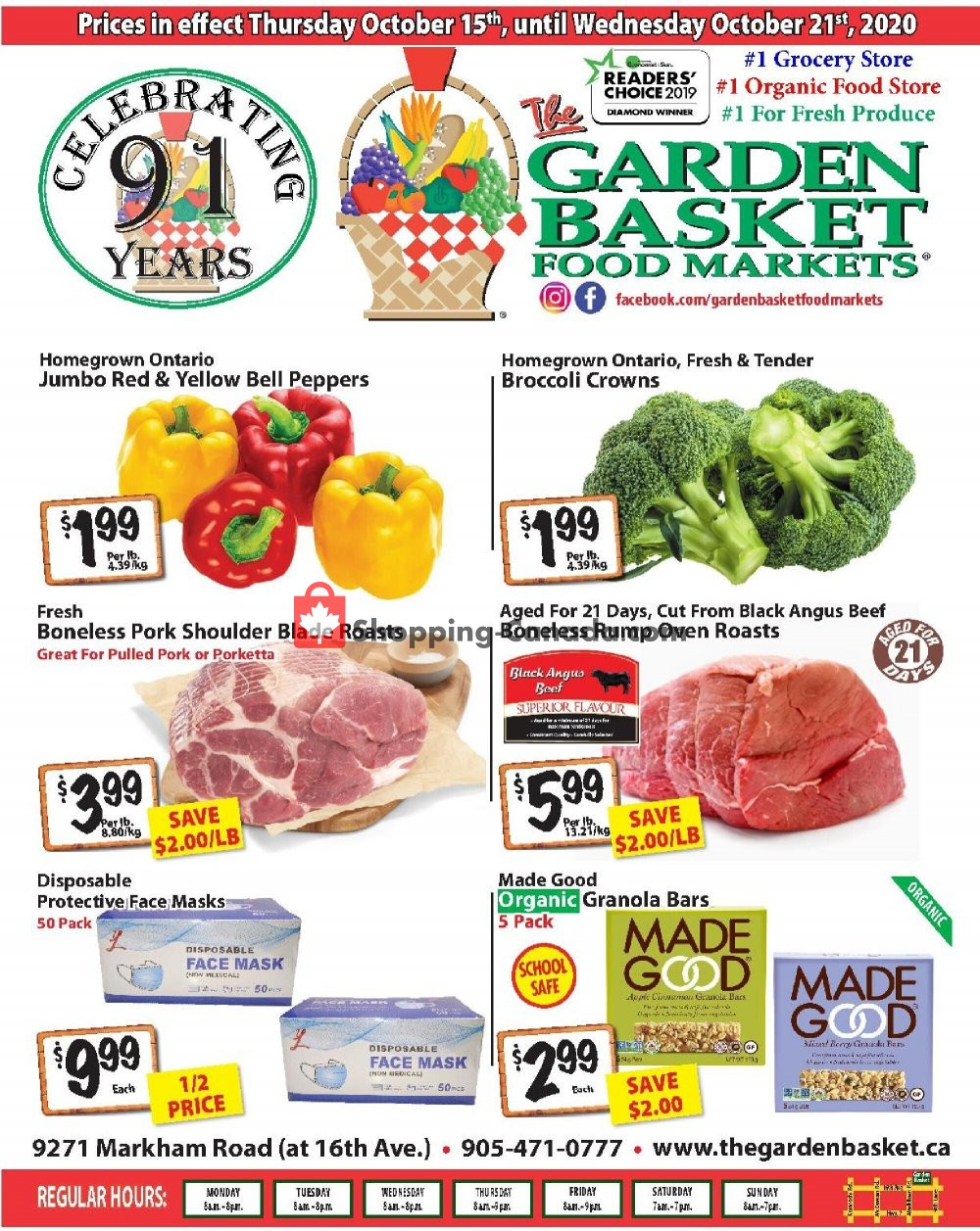 Flyer The Garden Basket Canada - from Thursday October 15, 2020 to Wednesday October 21, 2020