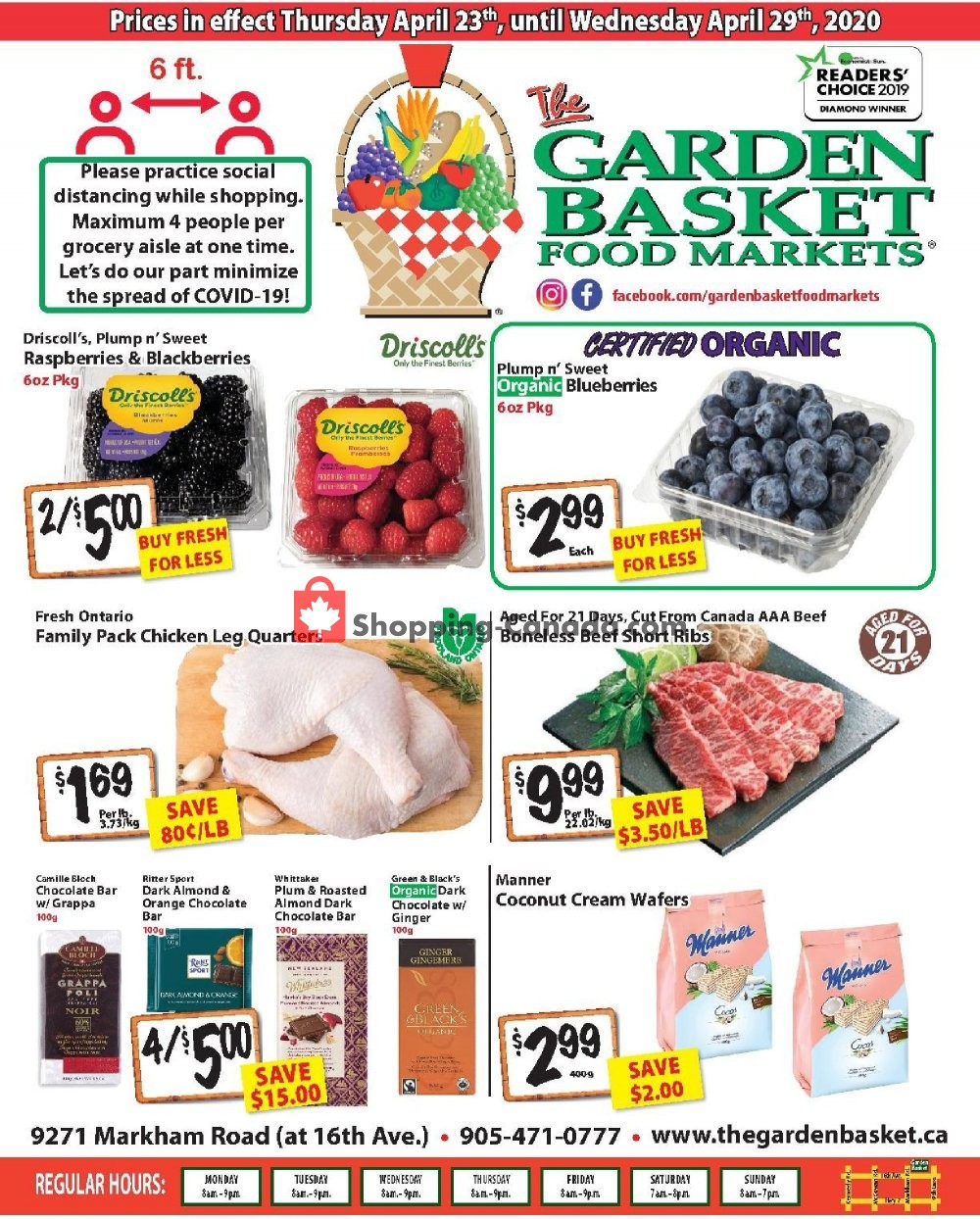 Flyer The Garden Basket Canada - from Thursday April 23, 2020 to Wednesday April 29, 2020