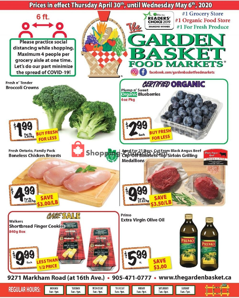 Flyer The Garden Basket Canada - from Thursday April 30, 2020 to Wednesday May 6, 2020