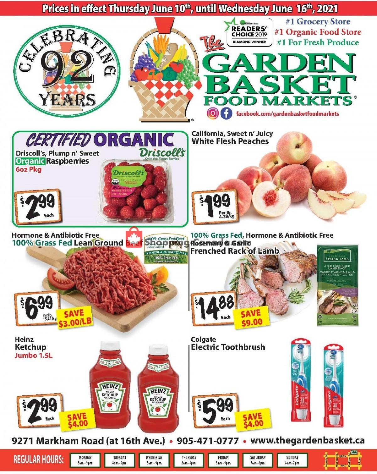 Flyer The Garden Basket Canada - from Thursday June 10, 2021 to Wednesday June 16, 2021