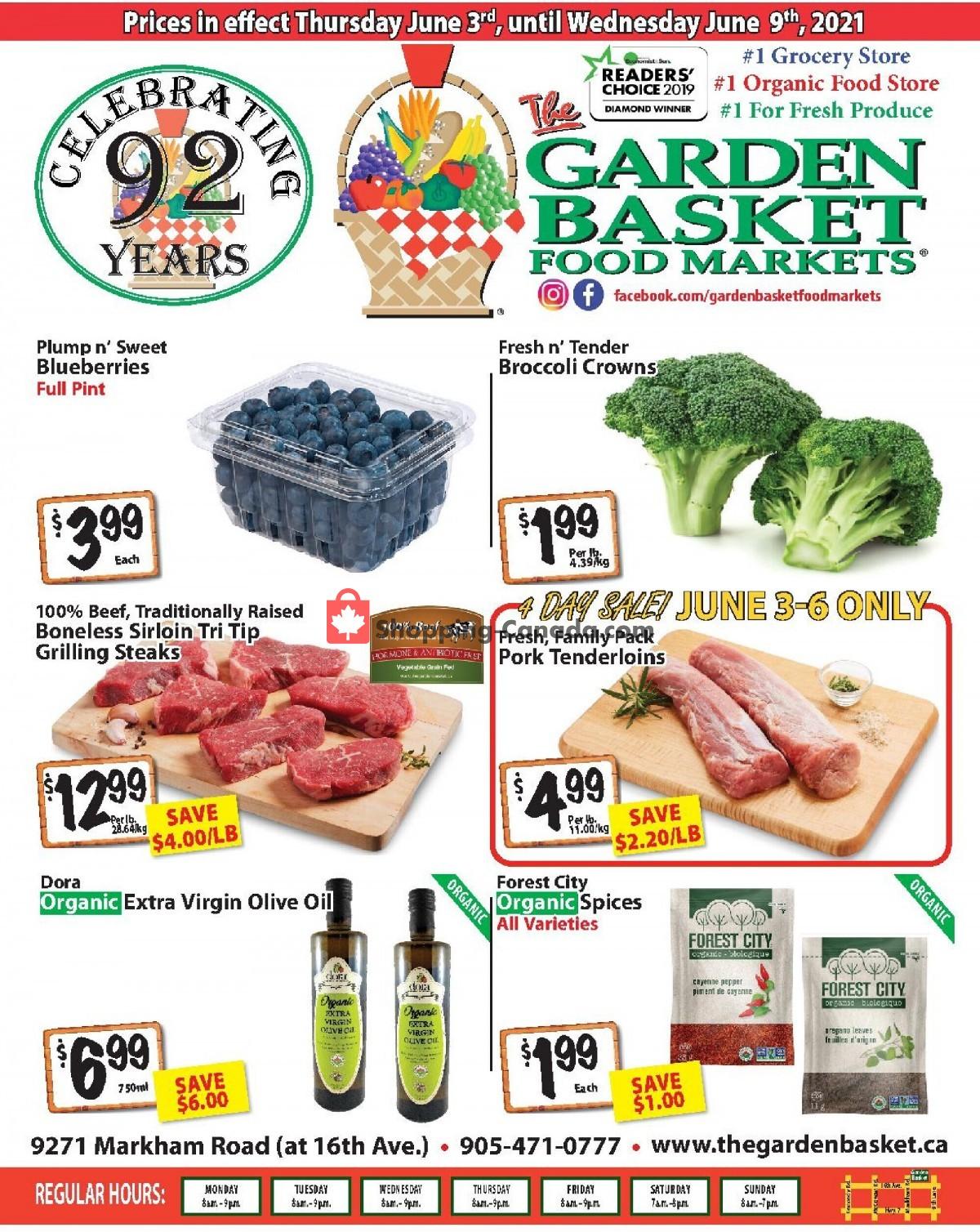 Flyer The Garden Basket Canada - from Thursday June 3, 2021 to Wednesday June 9, 2021