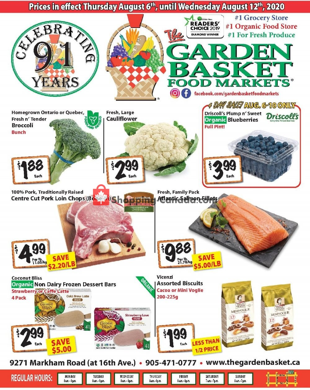 Flyer The Garden Basket Canada - from Thursday August 6, 2020 to Wednesday August 12, 2020